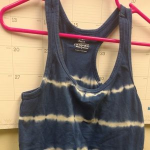 S (6-7) Old Navy Blue Tie Dye Striped Tank